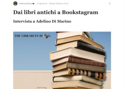 "La mia intervista per il blog di Sara Ammenti ""The Librarian Blog"""